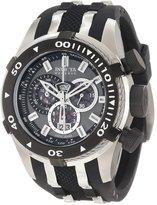 Invicta Men's Bolt II/Reserve Chronograph Gunmetal Dial Black Polyurethane