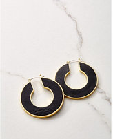 Express house of harlow helicon leather hoop earrings