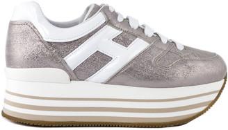 Hogan Maxi H222 Sneakers In Metallic