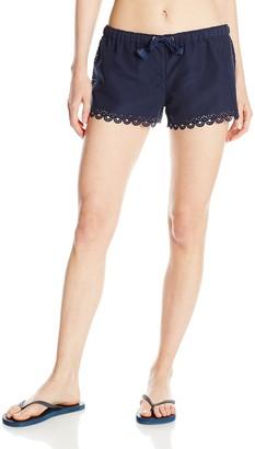 Seafolly Women's Shorts Printed Swim Shorts - Black -(Manufacturer Size: XS)