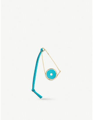 Loewe Meccano leather and gold-toned brass pin
