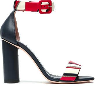 Red(V) Red(v) Embellished Striped Leather Sandals