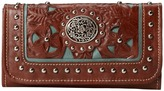 American West Lady Lace Tri-Fold Wallet Handbags