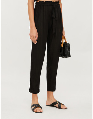 Eberjey Summer of Love Hudson tapered high-rise stretch-jersey trousers