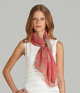 Vince Camuto Neon Lace Print Scarf