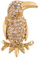 Oscar de la Renta parrot brooch