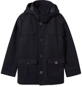 Mayoral Navy Wool Blend Padded Coat