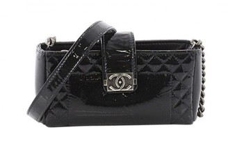 Chanel Boy Black Patent leather Clutch bags