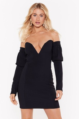 Nasty Gal Womens V All And End All Sweetheart Mini Dress - Black - 4, Black