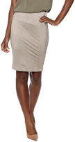 Solemio Taupe Suedette Pencil Skirt