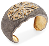 Artisan Designer Cuff with Diamond motif on top