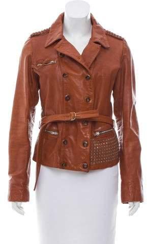 Golden Goose Embellished Leather Jacket