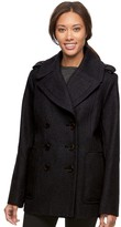 Croft & Barrow Women's Double-Breasted Wool Blend Peacoat