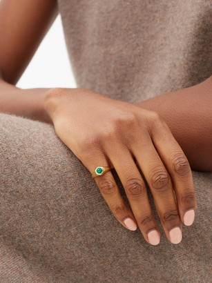 LIZZIE MANDLER May 18kt Gold & Emerald Signet Ring - Green Gold
