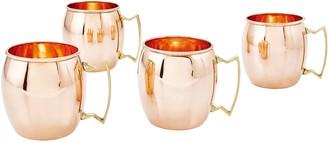 Old Dutch International Old Dutch 16-oz Solid Copper Moscow Mule Mugs,Set of 4