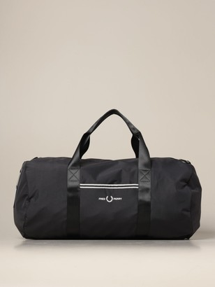 Fred Perry Gym Bag In Technical Fabric With Logo