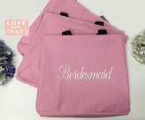 Etsy Bridesmaid Gifts, Set 6 Monogrammed Totes, Personalized Gift Tote Bags, Bridal Party Gifts, Sorority