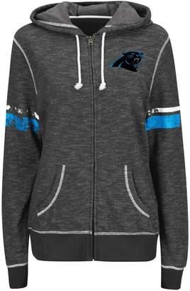 Majestic Women's Black Carolina Panthers Athletic Tradition Full-Zip Hoodie
