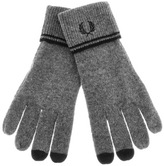 Fred Perry Twin Tipped Touch Screen Gloves Grey