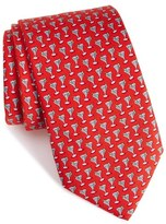 Vineyard Vines 'Martini' Print Silk Tie