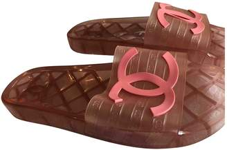 Chanel Pink Plastic Sandals