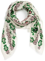 Tory Burch Women's Garden Party Oblong Wool Scarf