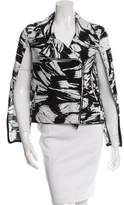 Yigal Azrouel Printed Cape Jacket w/ Tags
