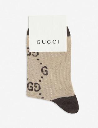 Gucci Logo-intarsia cotton-blend socks 0-4 years