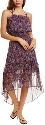 Parker Amethyst Silk Midi Dress