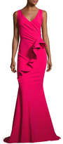 La Petite Robe di Chiara Boni Keke Sleeveless Ruffle Mermaid Gown