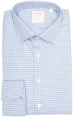 Thomas Pink Journey Check Print Long Sleeve Classic Fit Shirt