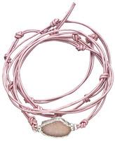 Nina Nguyen Bardot Lilac Leather Wrap Bracelet