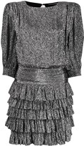 Saint Laurent ruffle trim mini dress