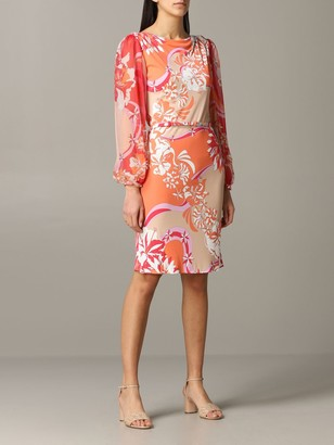 Emilio Pucci Jersey Dress With Vahineacute; Print