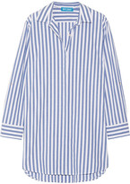 MiH Jeans Oversized Striped Cotton Shirt - Blue