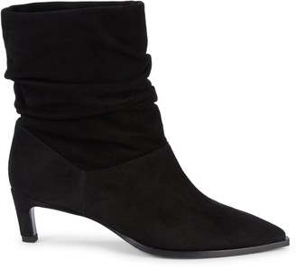 Aquatalia Maddy Ruched Suede Booties