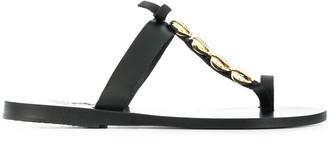Ancient Greek Sandals Iris shell-embellished flat sandals