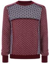 Alexander Mcqueen Geometric Patchwork Intarsia Sweater