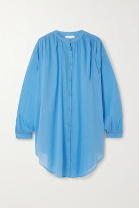 Skin - Brea Oversized Cotton-voile Kaftan - Light blue