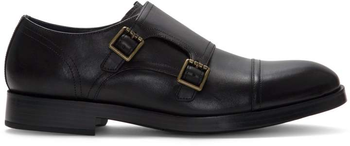 Cole Haan Hartsfield Henry Grand Double Monk-Strap Leather Oxfords
