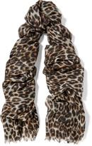 Equipment Kayden leopard-print cashmere and silk-blend scarf