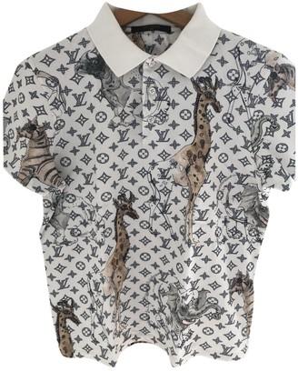 Louis Vuitton White Cotton Polo shirts