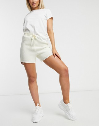 UNIQUE21 knitted shorts in white