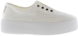 Victoria Platform Plimsoll Shoes in White - Eu42 (UK9)