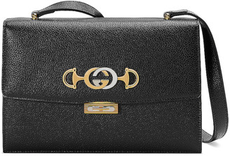 Gucci Zumi Box Shoulder Bag in Black | FWRD