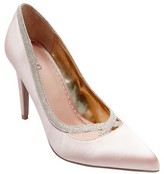 Tevolio Women's Alexi Shimmer Accent Satin Pumps