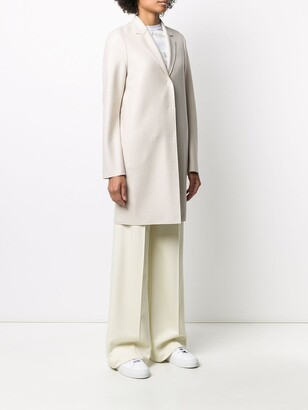 Harris Wharf London Single-Breasted Cocoon Coat