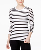 Tommy Hilfiger Striped Mesh-Detail T-Shirt, A Macy's Exclusive
