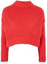Topshop Knitted crop jumper