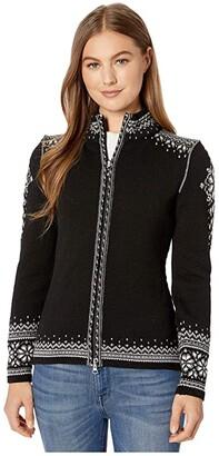 Dale of Norway 140th Anniversary Feminine Jacket (Black/Off-White/Smoke) Women's Clothing